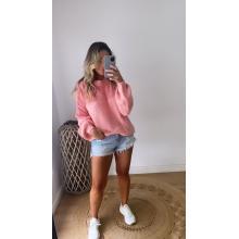 Sweater tejida rosada ONE SIZE